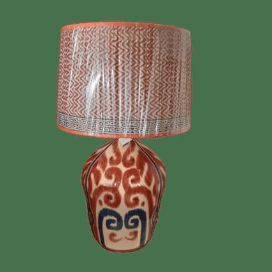 Abajur Cerâmica Bojudo Terracota Ikat