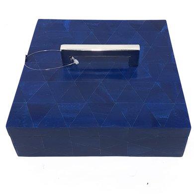 Caixa Quadrada Osso Marinho M C/ Pegador Prata