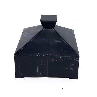 Caixa Quadrada Osso Preta Distonada P