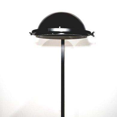 Luminária de Chão Preta com Cúpula Redonda