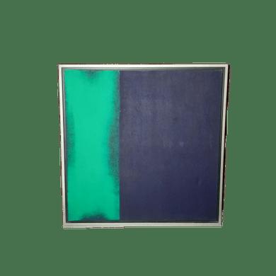 Tela Verda e Preto Abstrata
