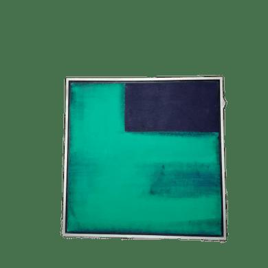 Tela Verde e Preto Abstrata