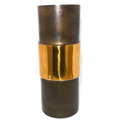 Vaso Alumínio Dois Tons Cobre e Dourado