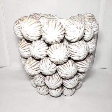 Vaso Bolas Cerâmica Branca