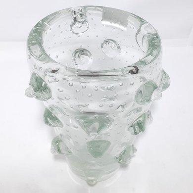 Vaso Transparente Murano C/ Bolas em Relevo M