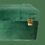 Baú Retangular Veludo Verde e Detalhes Dourado Médio